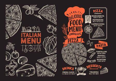 Pizza menu template for restaurant