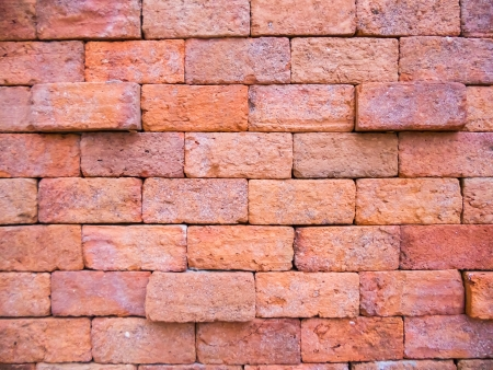 Background of red brick wall pattern texture photo