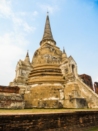 thailand s landmarks: The buddhist stupas at ayudthaya Stock Photo