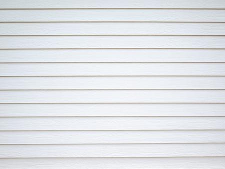 White colour wood plank wall horizontal surface background Stock Photo