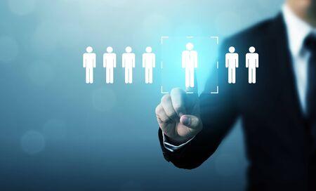 Human resource management and recruitment employment business concept Foto de archivo