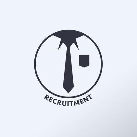 Recruiting human resource management business corporate concept. Recruitment process that is suitable for the position. Vector illustration