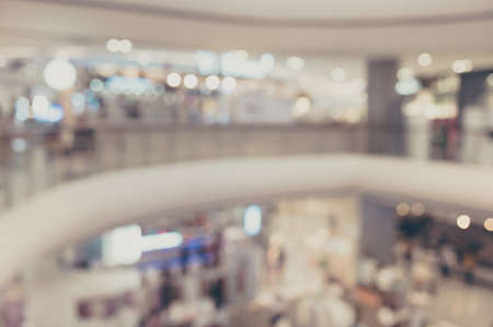 Abstract background blurred decorations department store and retail with lighting bokeh
