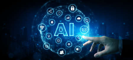 Innovation technology artificial intelligence (AI) and internet of things (IOT) Archivio Fotografico