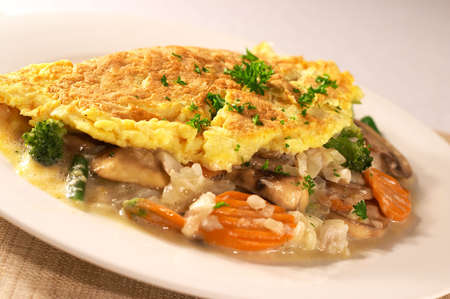omelette: Fish and Vegetable Omelette