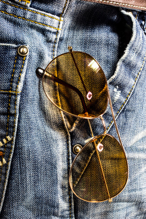 trouser: Blue jeans trouser with Sun Glasses