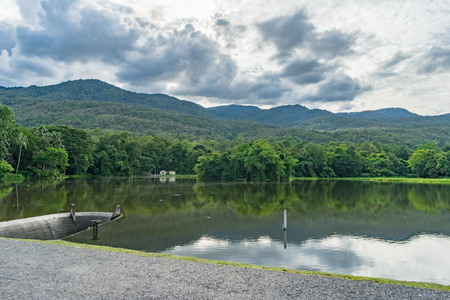 samll: samll dam and mountain