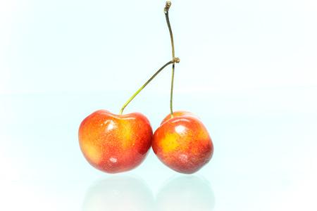 rainier: Rainier cherries  Stock Photo