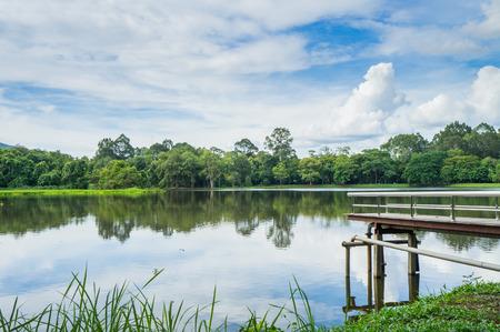 samll: Samll Lake and little bridge 1