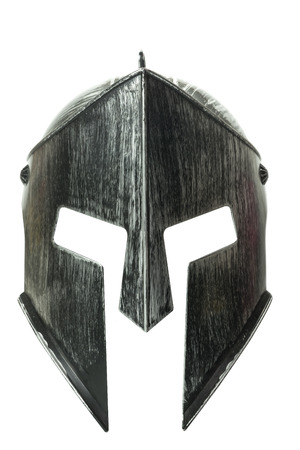 Spartan helmet isolated on white background 스톡 콘텐츠