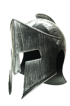 Spartan helmet isolated on white background Archivio Fotografico