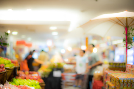 super market: super market bokeh as an abstract background