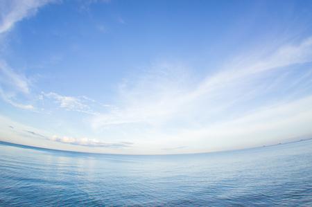 fisheye: Fisheye Hua hin sea and sky