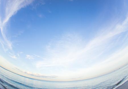 hua hin: Fisheye Hua hin sea and sky