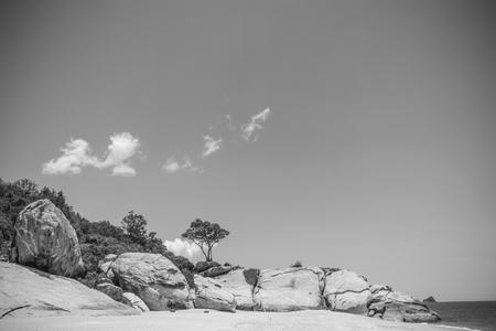 hua hin: Hua hin Beach  and big stone