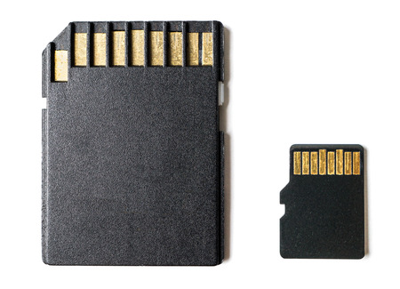 micro drive: micro sd card and adapter