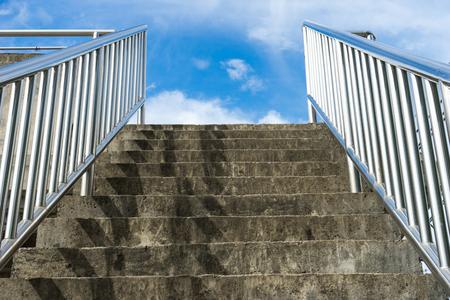 concrete steps: concrete steps leading too the sky Stock Photo