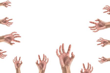 interdigital: hand stretching something , look like zombie set