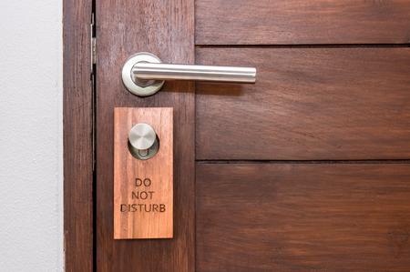Wood door , do not disturb