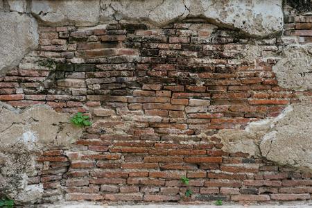 cracked concrete vintage brick wall background Stockfoto