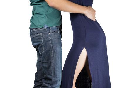 pareja bailando: Dos jóvenes bailarines, aislado Foto de archivo