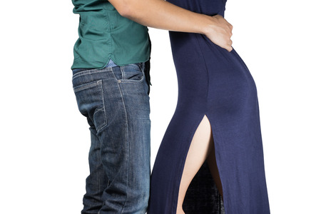 couple dancing: Two young dancers ,isolated
