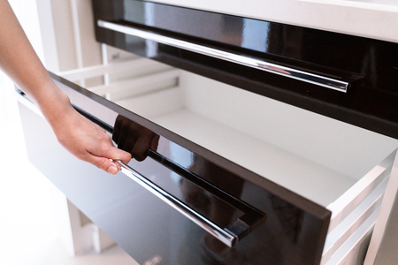 Hand Pull Open Drawer Wooden