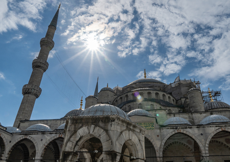 Blue Mosque Sultan Ahmed Mosque Sultanahmet, Istanbul Turkey. Editorial