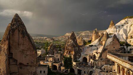 Landscape in Goreme, Cappadocia, Turkey.