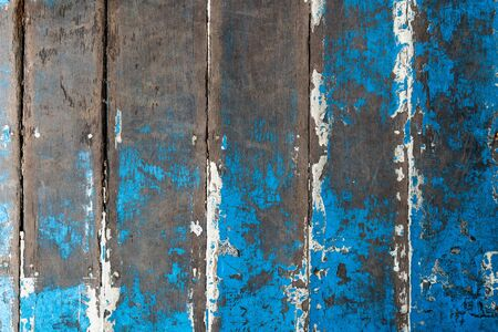 Old wood painted in blue, texture or background