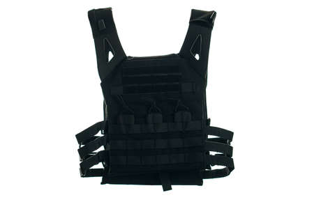 Bulletproof vest isolated on white background.