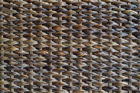 Brown woven rattan with natural patterns texture background.