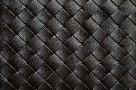 Black Weaving leather or basketry texture background.