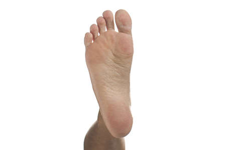 Human Soles of the feet isolated on White Background. Stockfoto