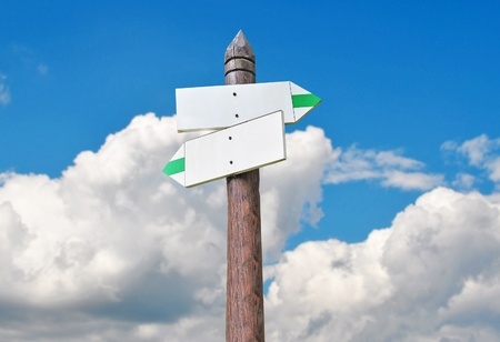 signaling: Tourist signs - sky background