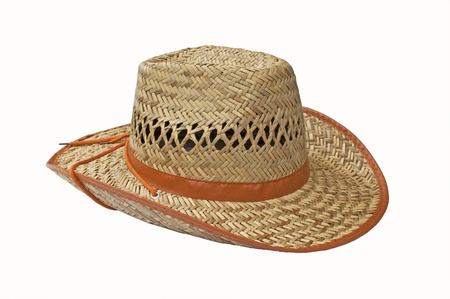 Straw hat - white background  Stock Photo - 12951237