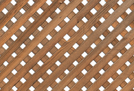 Wooden Garden Grid - white background  photo