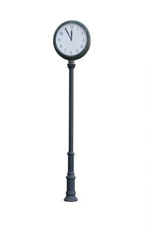 Street clock - white background photo