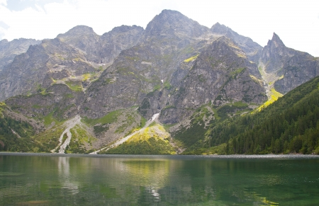oko: Mountain lake Morskie Oko - Tatra mountains Poland