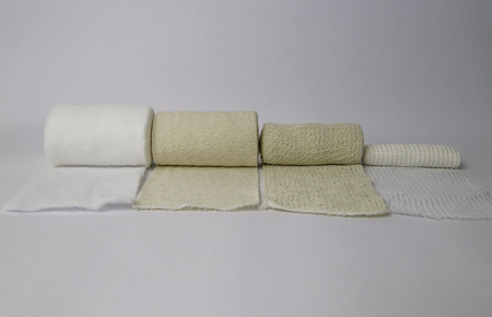 Isolated all kinds of different bandages at the white background