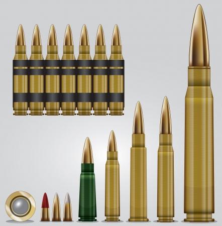 Rifle ammunition set