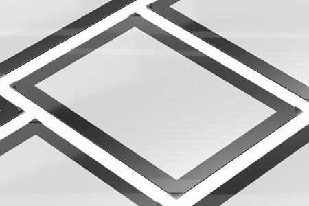 3d illustration render of a poster,photo or artwork frame on a white background. Perspective view.