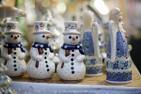 Snowman at christmas market
