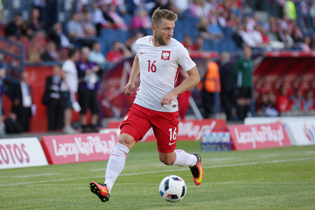 KRAKOW, POLAND - June 06, 2016: Inernational Friendly football game Poland - Lithuania op Jakub Kuba Blaszczykowski