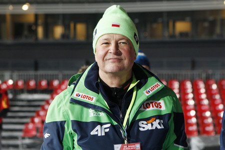 ZAKOPANE, POLAND - JANUARY 22, 2016: FIS Ski Jumping World Cup in Zakopane op Apoloniusz Tajner chairman PZN