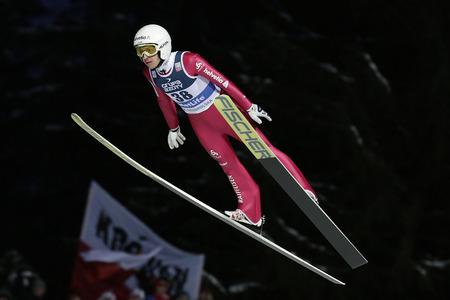 sui: ZAKOPANE, POLAND - JANUARY 24, 2016: FIS Ski Jumping World Cup in Zakopane op SIMON AMMANN SUI
