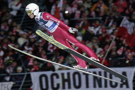 sui: ZAKOPANE, POLAND - JANUARY 24, 2016: FIS Ski Jumping World Cup in Zakopane op  SIMON AMMANN SUI Editorial