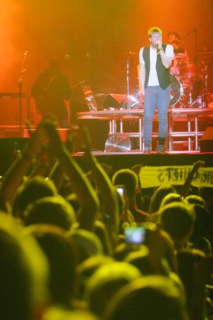 KRAKOW, POLAND - AUGUST 22, 2008: Coke Live Festival, op Kaiser Chiefs