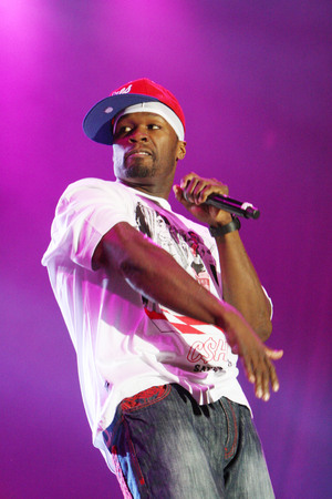 KRAKOW, POLAND - AUGUST 20, 2009: Coke Live Festival, op  50 Cent