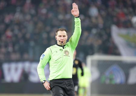 KRAKOW, POLAND - FEBRUARY 11, 2017: Polish Premier Football League Wisla Krakow - Korona Kielce op Tomasz Kwiatkowski Editorial